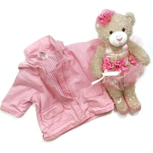 Baby Gap Pink Coat Removable Hood Size 0-3 Months